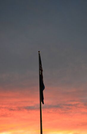 luto: Bandera de luto Foto de archivo