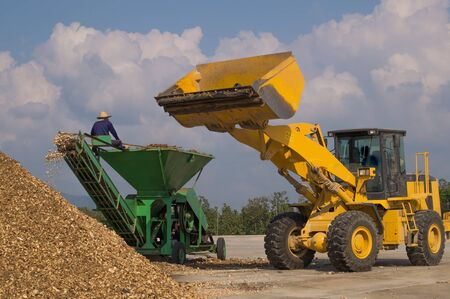 front end loader: Heavy Equipment Hydraulic Front End Loader Stock Photo