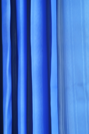 Blue curtains  Background photo