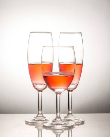 Red wine in glass photo