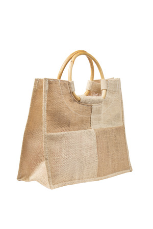 brown  bag isolated on a white photo