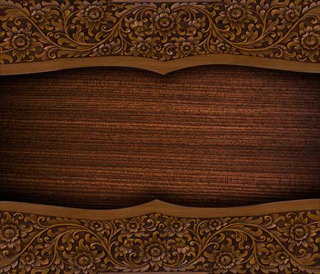 wood carvings: Thai pattern Handmade wood carvings