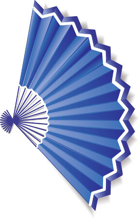 Dark blue paper fan with a white border. Without a pattern Stock Vector - 8356957