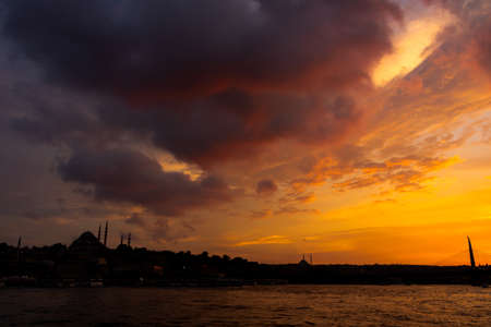 Cityscape of Istanbul at sunset