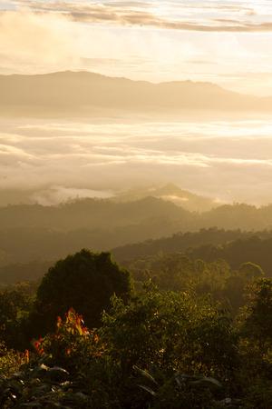 brighten: Brighten sunrise above the cloud
