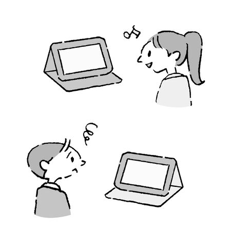 Children who enjoy watching tablets, and can't enjoy