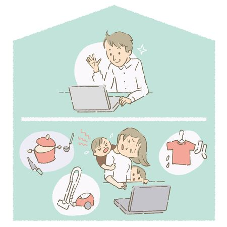 Telecommuting Co-workers, difference of burden (color)
