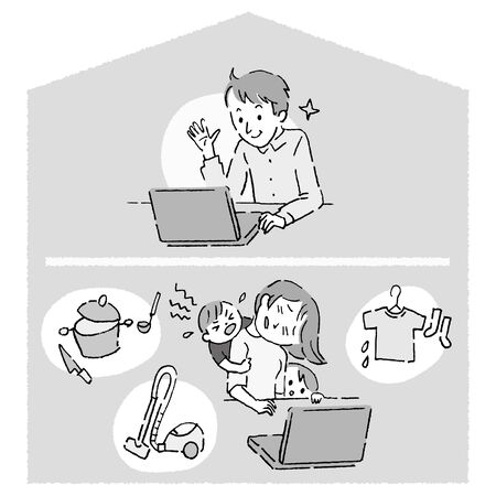 Telecommuting Co-workers, difference of burden