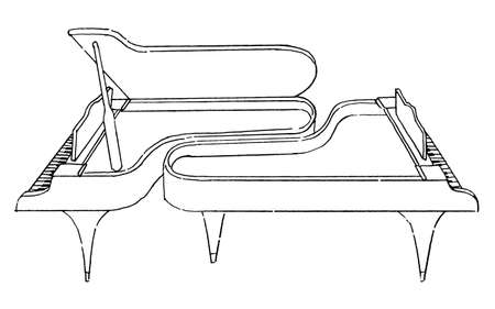 2 pianos (line drawing)