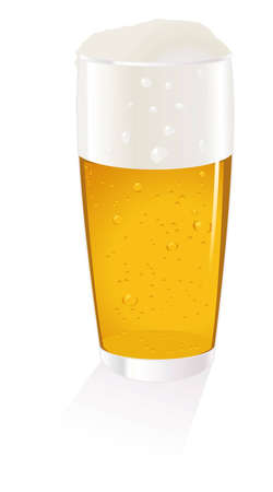 overflowing: Cold Beer Glass Illustration