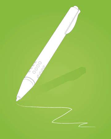 ballpen: Office Suite Ball-Pen Illustration