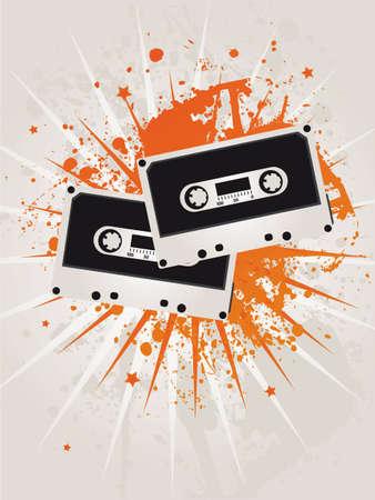 Retro Grunge Star Cassettes