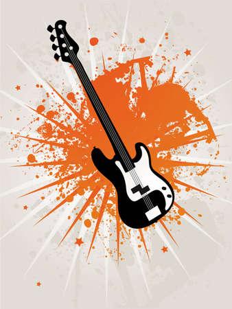 Retro Grunge Star Guitar