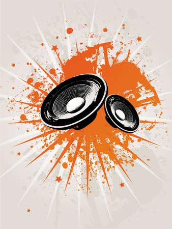 speaker box: Retro Grunge Star Speaker