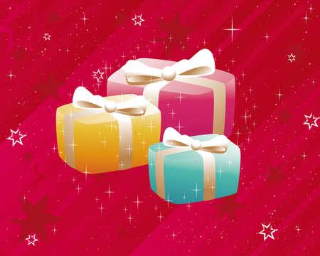 Christmas Gifts Vector Illustration Vector