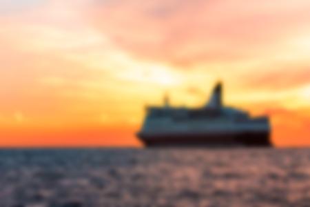 Passenger ship - soft lens bokeh image. Defocused background Stock Photo