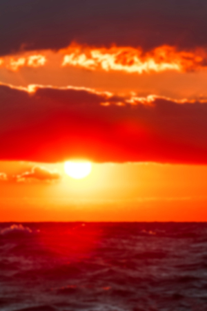 Hot sunset - soft lens bokeh image. Defocused background Stock Photo
