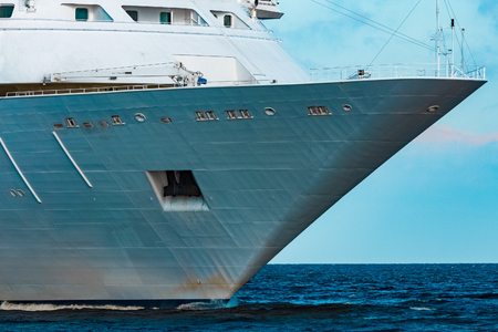 Luxury cruise liner underway. Tour travel and spa services Stock Photo