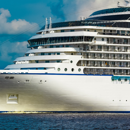 Luxury cruise liner underway. Tour travel and spa services 写真素材