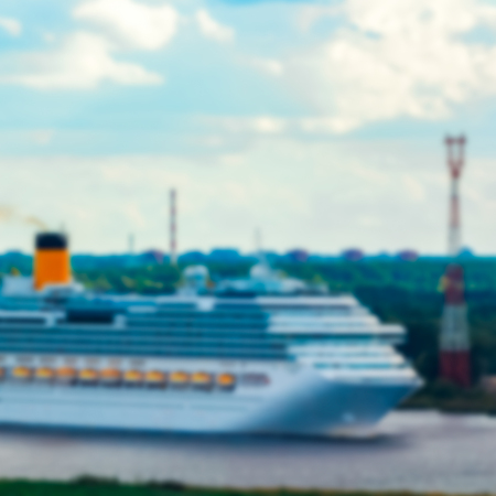 Cruise liner - soft lens bokeh image. Defocused background