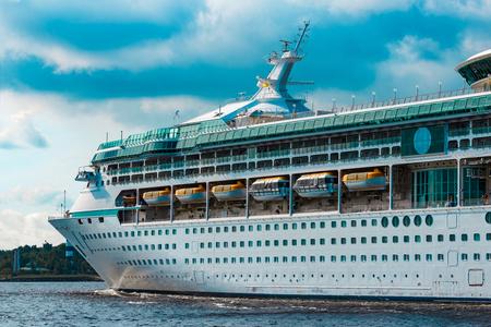 Luxury cruise liner underway. Tour travel and spa services Reklamní fotografie