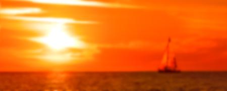 Hot sunset - soft lens bokeh image. Defocused background 写真素材