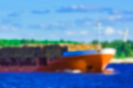 Cargo ship - soft lens bokeh image. Defocused background Reklamní fotografie
