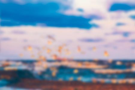 Sea landscape - soft lens bokeh image. Defocused background