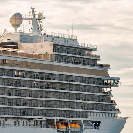 Royal cruise liner on the way. Tour travel and spa services