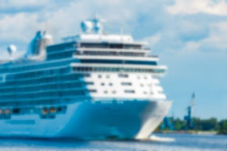 Cruise liner - soft lens bokeh image. Defocused background