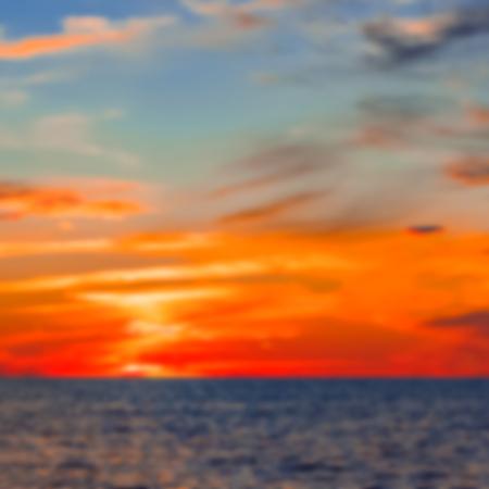 Hot sunset - soft lens bokeh image. Defocused background Stock fotó