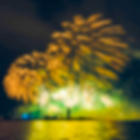 Colorful fireworks - soft lens bokeh image. Defocused background