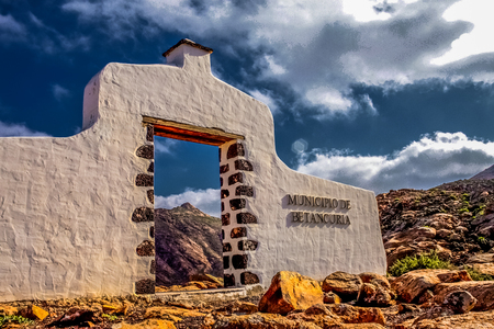 Doorway of Antigua, Fuerteventura Island, Canary Spain