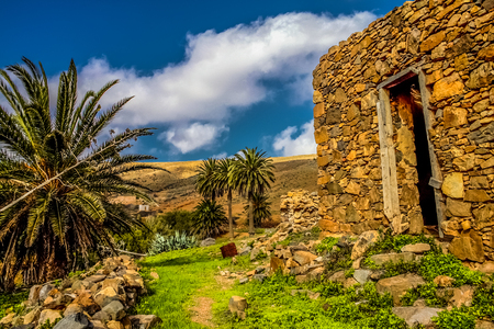 Ruins in Fuerteventura Island, Canary Spain
