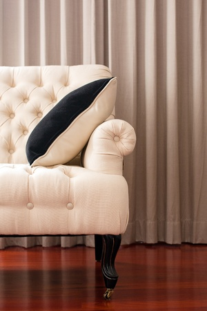 Chair-Fabric arm chair, classical stylish armchair isolated photo