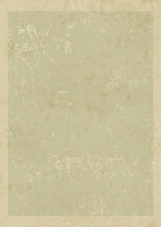 Old vintage blank card with frame  Grunge paper backghound Stock Photo
