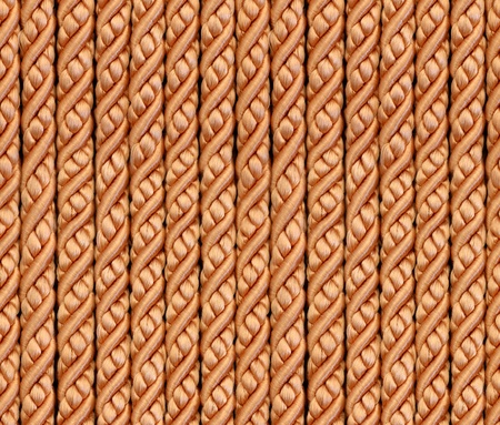 Seamless bright gold glamour ropes background, pattern, texture Stock Photo