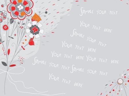 Spring flower card