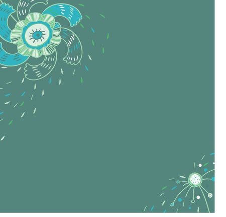 Vector background, card with flowers