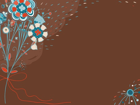 Vector background, card, banner with flowers