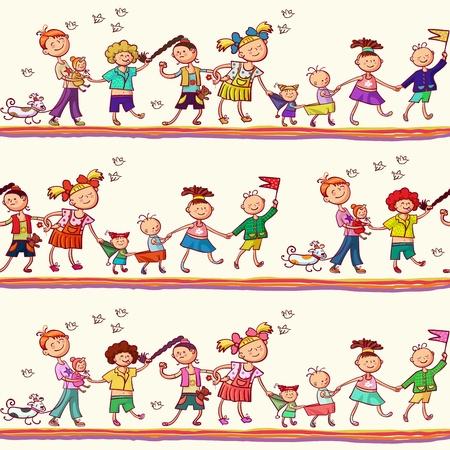 industria tessile: Seamless pattern per bambini, riviste, siti web, industria tessile Vettoriali