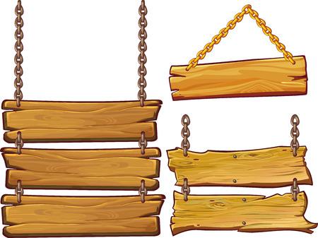 Holz-Zeichen auf weißen Hintergrund. Standard-Bild - 73414998