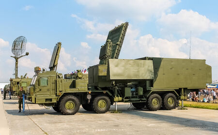 S-300 - long-range SAM system  Command truck at the air show