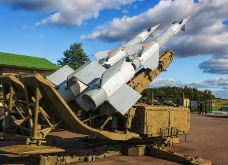 S-125M NevaM  Soviet surface-to-air missile system at Stalin Line museum  Summer 2012  NATO reporting name  SA-3 Goa