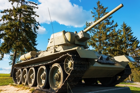 The old Soviet T-34-76 at Stalin Line museum