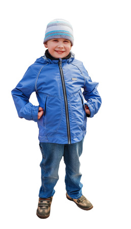 utmost: The photo of the boy in winter clothes  Photo to the utmost  Isolated  Stock Photo