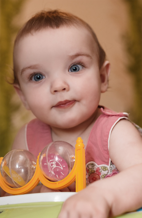 countenance: Portrait of the baby girl close-up