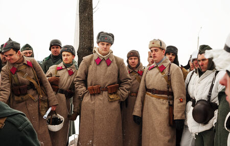 Russian military personnel. Historical reconstruction. Editorial