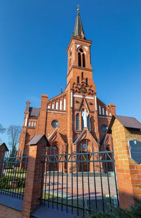 paternal: Catholic Cathedral for Anthony of Padua on the Pastavy town. March 20,  2014 year.
