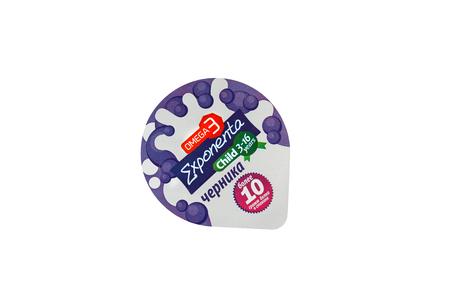 Design der Membran aus einer Folie für die Verpackung von Kunststoffgläsern für flüssige Lebensmittel.